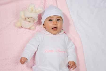 Pyjama met witte kraagje en roze bies
